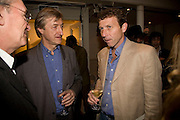 JULIAN BARNES AND MIKE ATHERTON, party to celebrate the 100th issue of Granta magazine ( guest edited by William Boyd.) hosted by Sigrid Rausing and Eric Abraham. Twentieth Century Theatre. Westbourne Gro. London.W11  15 January 2008. -DO NOT ARCHIVE-© Copyright Photograph by Dafydd Jones. 248 Clapham Rd. London SW9 0PZ. Tel 0207 820 0771. www.dafjones.com.