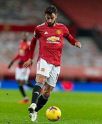 MANCHESTER, ENGLAND - Friday, January 1, 2020: Manchester United's Bruno Fernandes during the New Year's Day FA Premier League match between Manchester United FC and Aston Villa FC at Old Trafford. The game was played behind closed doors due to the UK government putting Greater Manchester in Tier 4: Stay at Home during the Coronavirus COVID-19 Pandemic. (Pic by David Rawcliffe/Propaganda)