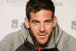 May 6, 2018 - Madrid, Spain - Juan Martin del Potro press conference during day two of the Mutua Madrid Open tennis tournament at the Caja Magica on May 6, 2018 in Madrid, Spain. (Credit Image: © Oscar Gonzalez/NurPhoto via ZUMA Press)