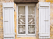 Shutters on a french house in Ile de Ré, France