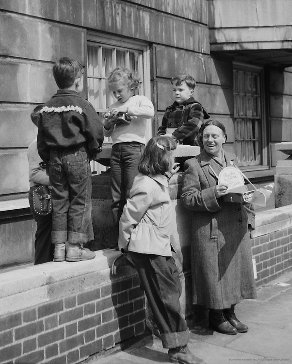 Street Scene: Collecting for Charity, London, c1954