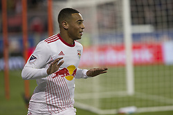 March 13, 2018 - Harrison, New Jersey, United States - Tyler Adams (4) of Red Bulls celebrates scoring goal during Scotiabank Concacaf Champions League quarterfinal second leg game against Club Tijuana at Red Bull Arena Red Bulls won 3 - 1  (Credit Image: © Lev Radin/Pacific Press via ZUMA Wire)