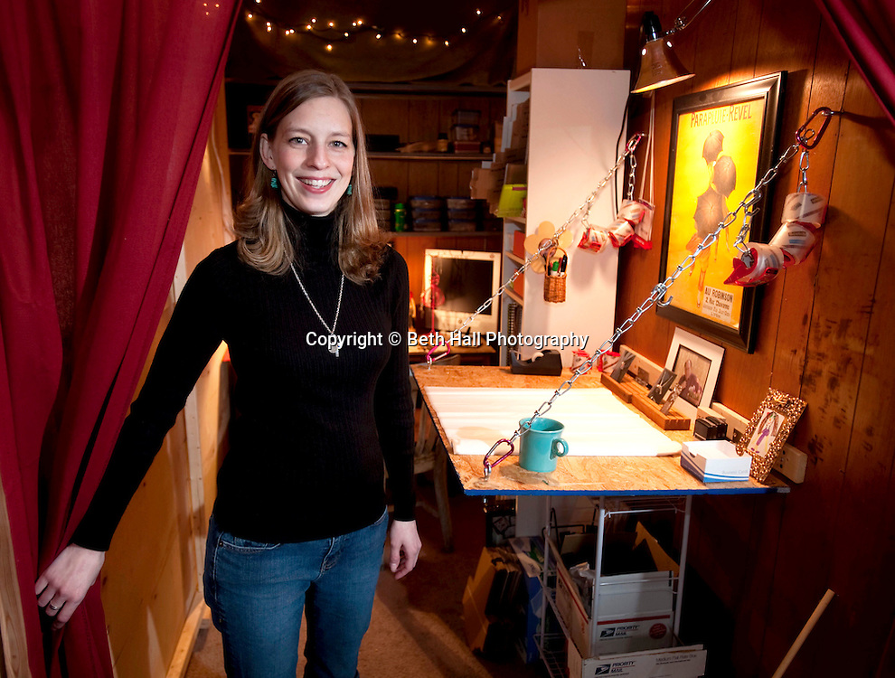 Editorial portrait photography of Suzanne Billings and her home based business for the Northwest Arkansas Business Journal.