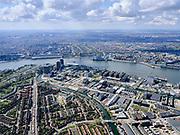 Nederland, Noord-Holland, Amsterdam; 16-04-2021; Amsterdam-Noord, Buiksloterham met overzicht Overhoeks. Ranonkelkade, Buiksloterkanaal. Van der Pekbuurt.<br /> Amsterdam-Noord, Buiksloterham with overview Overhoeks. Ranonkelkade, Buiksloterkanaal. Van der Pekbuurt.<br /> luchtfoto (toeslag op standard tarieven);<br /> aerial photo (additional fee required)<br /> copyright © 2021 foto/photo Siebe Swart