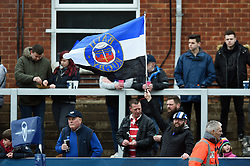 A general view of a Bath Rugby supporters in the crowd - Mandatory byline: Patrick Khachfe/JMP - 07966 386802 - 30/03/2018 - RUGBY UNION - Kingsholm Stadium - Gloucester, England - Bath Rugby v Exeter Chiefs - Anglo-Welsh Cup Final