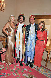 Left to right, SOPHIE MARKWICK, ANDRE de TRICHATEAU, ALEXANDER LJUNGBLOM and SOPHIE GOODWIN at Tatler's Jubilee Party in association with Thomas Pink held at The Ritz, Piccadilly, London on 2nd May 2012.