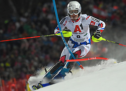 """29.01.2019, Planai, Schladming, AUT, FIS Weltcup Ski Alpin, Slalom, Herren, 1. Lauf, im Bild Victor Muffat-Jeandet (FRA) // Victor Muffat-Jeandet of France in action during his 1st run of men's Slalom """"the Nightrace"""" of FIS ski alpine world cup at the Planai in Schladming, Austria on 2019/01/29. EXPA Pictures © 2019, PhotoCredit: EXPA/ Erich Spiess"""