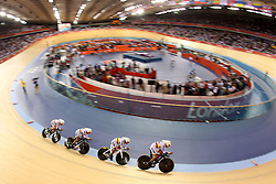 during the held at the Velodrome at Olympic Park in London as part of the London 2012 Olympics on the 2nd August 2012..Photo by Ron Gaunt/SPORTZPICS