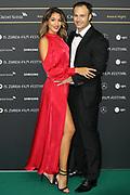 Lorenzo Leutenegger mit Ehefrau Sara auf dem Grünen Teppich beim 15th Zurich Film Festival. Zürich, 05. Oktober 2019.