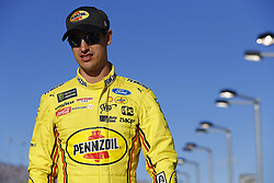 March 2, 2018 - Las Vegas, Nevada, United States of America - March 02, 2018 - Las Vegas, Nevada, USA: Joey Logano (22) hangs out on pit road during qualifying for the Pennzoil 400 at Las Vegas Motor Speedway in Las Vegas, Nevada. (Credit Image: © Justin R. Noe Asp Inc/ASP via ZUMA Wire)