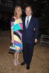 HUGO SWIRE MP and his wife at the annual Cartier Chelsea Flower Show dinner held at the Chelsea Physic Garden, London on 21st May 2007.<br /><br />NON EXCLUSIVE - WORLD RIGHTS