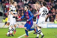 FC Barcelona's Leo Messi , VfL Borussia Monchengladbach's Julian Korb  during Champions League match between Futbol Club Barcelona and VfL Borussia Mönchengladbach  at Camp Nou Stadium in Barcelona , Spain. December 06, 2016. (ALTERPHOTOS/Rodrigo Jimenez)