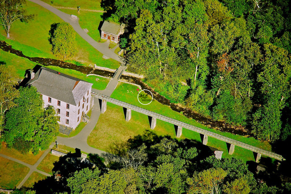 Spring Mill State Park Indiana. An aerial view in September.