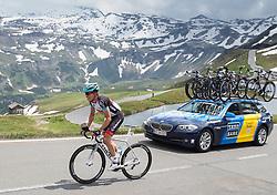 03.07.2013, Fuscher Lacke, Grossglockner Hochalpenstrasse,  AUT, 65. Oesterreich Rundfahrt, 4. Etappe, Matrei in Osttirol - St. Johann Alpendorf, im Bild Benjamin King (USA, Radioshack Leopard) // during the 65 th Tour of Austria, Stage 4, from Matrei in Osttirol to St. Johann Alpendorf, Grossglockner Hochalpenstrasse, Austria on 2013/07/03. EXPA Pictures © 2013, PhotoCredit: EXPA/ Johann Groder