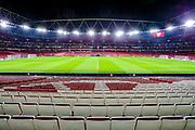 General stadium view inside the Emirates Stadium before the Europa League match between Arsenal and Eintracht Frankfurt at the Emirates Stadium, London, England on 28 November 2019.