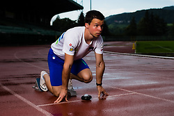 Tadej Enci posing during photoshoot, on July 22, 2020 in Sports park, Velenje, Slovenia. Photo by Grega Valancic / Sportida