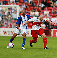 Photo: Mark Stephenson.<br /> Walsall v Birmingham City. Pre Season Friendly. 28/07/2007.Birmingham's Mehdi Nafti (L)