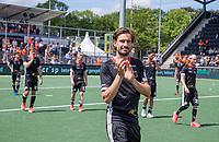 AMSTELVEEN - Teleurstelling bij Florian Fuchs (Dui) na de finale,  EK hockey, finale Nederland-Duitsland 2-2. mannen.  Nederland wint de shoot outs en is Europees Kampioen.  COPYRIGHT KOEN SUYK