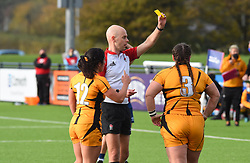 Wasps FC Ladies player sees yellow - Mandatory by-line: Paul Knight/JMP - 31/10/2020 - RUGBY - Shaftesbury Park - Bristol, England - Bristol Bears Women v Wasps FC Ladies - Allianz Premier 15s