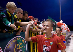 Marko Pokleka of Rudar at 1st Round of Europe League football match between NK Rudar Velenje (Slovenia) and Trans Narva (Estonia), on July 9 2009, in Velenje, Slovenia. Rudar won 3:1 and qualified to 2nd Round. (Photo by Vid Ponikvar / Sportida)