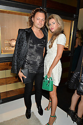 PAUL BOREK-HALL and ALEXANDRA SHISHLOVA at a party to celebrate the opening of the jeweller Ara Vartanian's Flagship Store 44 Bruton Place, London on 7th September 2016.