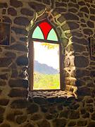 Catholic Church, Taaoa Valley, Atuona, Hiva Oa, Marquesas, French Polynesia, South Pacific