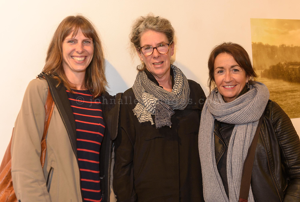 Felicity Farrell, Kinsale, artist Katherine Boucher Beug'and Valerie Wistreich, Kinsale pictured at the launch of My Kinsale, An anthology in words and pictures by and for the people of Kinsale, Edited by Alannah Hopkin at the Mill building on the first day of the Words by Water Literary Festival in Kinsale.<br /> Picture. John Allen