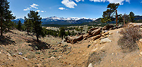 Rocky Mountain National Park landscape panorama. Composite of five images taken with a Nikon D3 camera and 24 mm f/3.5 PC-E lens (ISO 200, 24 mm, f/16, 1/200 sec). Composite created using Auto Pano Giga.