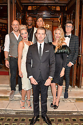 Centre, LANCE CORPORAL RICHARD JONES winner of the 2016 Britain's Got Tallent TV show with with Magical Bones, Jonathan Goodwin, Sabine van Diemen, Josephine Lee, Ben Hart and Chris Cox at a Gala Performance of Impossible at the Noël Coward Theatre, 85-88 Saint Martin's Lane, London on 13th July 2016.