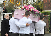 THE FUNERAL SERVICE OF KIRSTY HOWARD THE MANCHESTER BORN FUNDRASER HAS TAKEN PLACE TODAY.....HUNDREDS OF MOURNERS LINED THE STREETS OF MANCHESTER WHERE SHE GREW UP<br /> ©Exclusivepix Media
