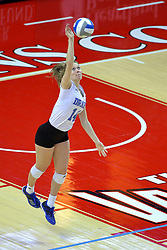 23 November 2017:  Madi Ford during a college women's volleyball match between the Drake Bulldogs and the Indiana State Sycamores in the Missouri Valley Conference Tournament at Redbird Arena in Normal IL (Photo by Alan Look)