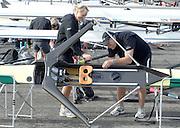 Motherwell, SCOTLAND. NZL W1X Emma TWIGG rigging her scull, at the  2007 FISA U23 [Senior B] World Championship Regatta, Strathclyde Country Park.  25/07/2007 [Mandatory credit Peter Spurrier/ Intersport Images]. , Equipment