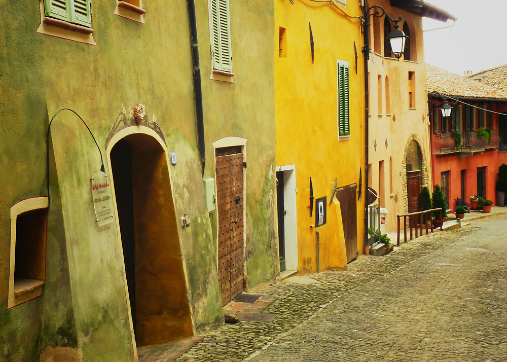 In the Piedmont region of Italy are many hilltop villages including this one, Monforte d'Alba.