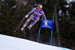 10.02.2011, Kandahar, Garmisch Partenkirchen, GER, FIS Alpin Ski WM 2011, GAP, Herren Abfahrtstraining, im Bild Erik Guay (CAN) takes to the air competing in the first men's downhill training run on the Kandahar race piste at the 2011 Alpine skiing World Championships, EXPA Pictures © 2011, PhotoCredit: EXPA/ M. Gunn
