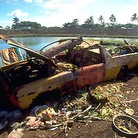 Rubbish dump, Rarotonga, Cook Islands, South Pacific.   Accession #: 0.95.205.001.06