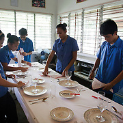 Teenagers, both girls and boys learn the trade of hotel business. Many of the local teenagers dream of going to Manila or other big cities and vocational training provided by Laura Vicuña is important to fulfil this dream. Casa Maria Ausilitrice Laura Vicuña Women Development and Training Centre in Victorias City. Laura Vicuña is a non-profit charity working in Manila and in Bacolod in the state Negros Occidental in the Philippines.