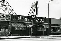 1973 Filthy McNasty's on Sunset Blvd.