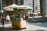Central Park food cart at the entrance of the park on Fifth Avenue and 79th street.