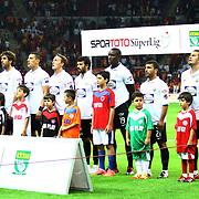Akhisar Belediyespor's Team during their Turkish Super League soccer match Galatasaray between Akhisar Belediyespor at the TT Arena at Seyrantepe in Istanbul Turkey on Sunday 23 September 2012. Photo by TURKPIX