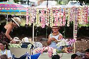 Lei seller, Kailua Kona, Island of Hawaii