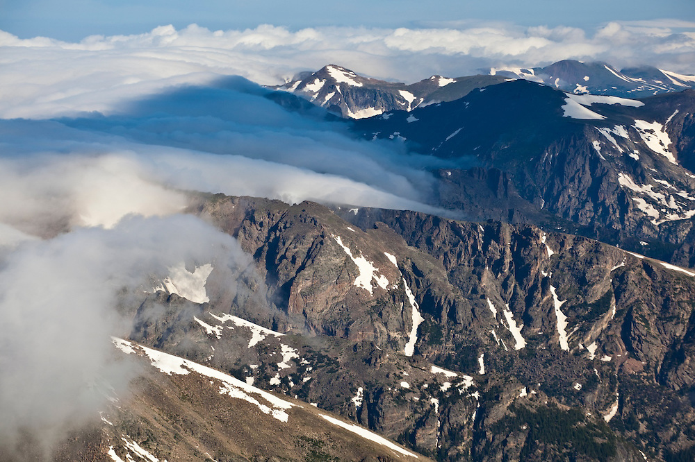 Mountain views from Longs Peak, Rocky Mountain National Park, Colorado.