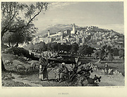 Engraving on Steel of Hebron, Palestine from the book 'Picturesque Palestine, Sinai and Egypt' by Wilson, Charles William, Sir, 1836-1905; Lane-Poole, Stanley, 1854-1931 Volume 3. Published in by J. S. Virtue and Co 1883