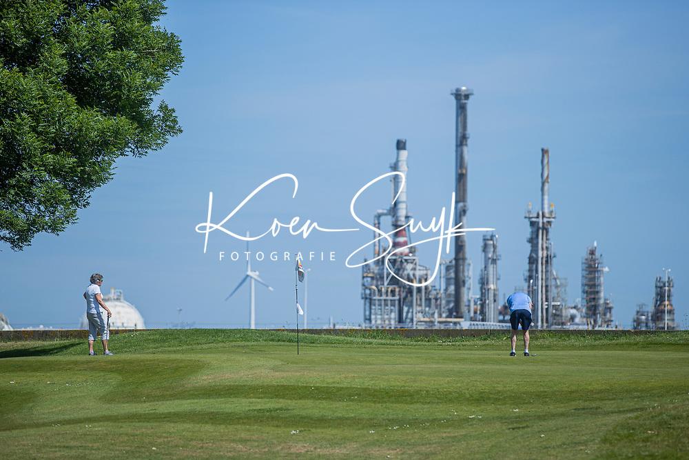 BRIELLE -  hole 6, Kleiburg , golfbaan.  COPYRIGHT KOEN SUYK