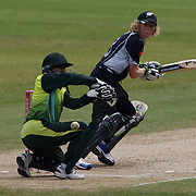 Haidee Tiffen batting during the match between New Zealand and Pakistan in the Super 6 stage of the ICC Women's World Cup Cricket tournament at Drummoyne Oval, Sydney, Australia on March 19, 2009. New Zealand won the match by 223 runs. Photo Tim Clayton