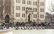 London, Great Britain, <br /> Both crews passing Harrods Depository.<br /> 147th Oxford vs Cambridge Varsity Boat Race, Over the Championship Course, Putney To Mortlake. 24.03.2001<br /> <br /> [Mandatory Credit: Peter SPURRIER/Intersport Images]<br /> <br /> Crews. <br /> <br /> Oxford UBC. Bow. Robin BOURNE-TAYLOR,  MF BONHAM, EB LILLEAHI, Ian WEIGJELL, Dan SNOW, Brian PALM. Matt SMITH cox JC MONCRIEFF.<br /> <br /> Cambridge UBC. Bow. JC SWAINSON, Lukas HIRST, TM EDWARDS-MOSS, RIck DUNN, Josh WEST, Tom STALLARD. Tim WOOGE and cox Christian CORMACK. [Mandatory Credit; Peter SPURRIER/Intersport Images]<br /> <br /> 20010324 University Boat Race, Putney to Mortlake, London, Great Britain.