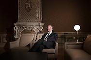 25.03.2015 Sachsen-Anhalt, Magdeburg, Staatskanzlei, Ministerpräsident Dr. Reiner Haseloff, CDU. Portrait des Ministerpräsidenten Dr. Reiner Haseloff im Kaminzimmer der Staatskanzlei.<br /><br />25/03/2015 Saxony- Anhalt , Magdeburg, State Chancellery , Prime Minister Dr. Reiner Haseloff , CDU. Portrait of the Prime Minister Dr. Reiner Haseloff in the fireplace room of the Staatskanzlei. <br /><br />© 2015 Harald Krieg / Agentur Focus