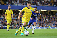Bristol Rovers defender Tom Lockyer (4) dribbling during the EFL Cup match between Chelsea and Bristol Rovers at Stamford Bridge, London, England on 23 August 2016. Photo by Matthew Redman.