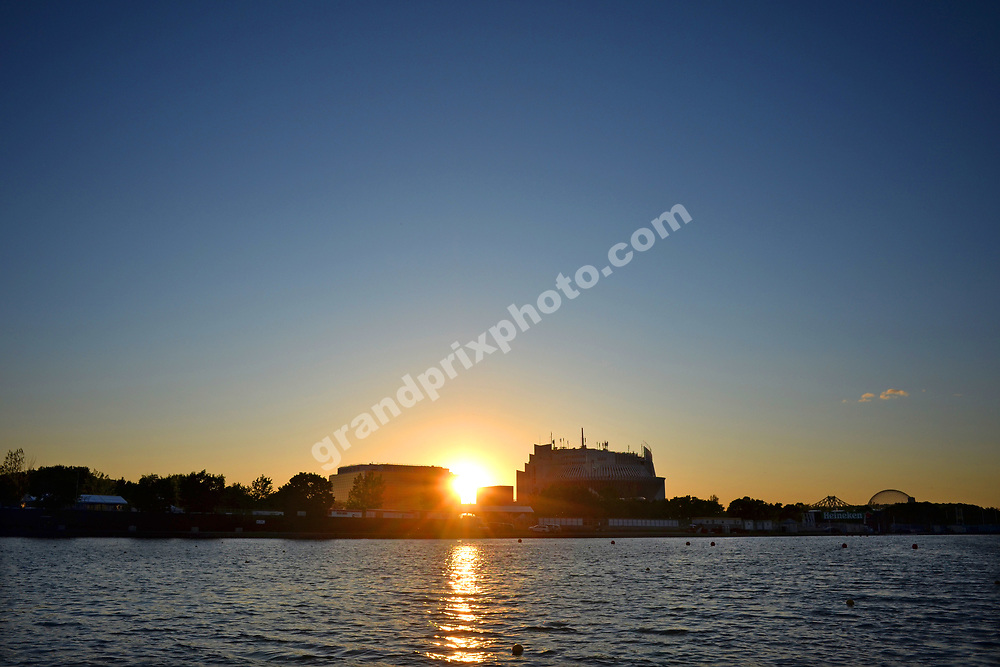 Sunset before the 2019 Canadian Grand Prix in Montreal. Photo: Grand Prix Photo