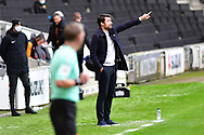 MK Dons' Assistant Manager Luke Williams during the EFL Sky Bet League 1 match between Milton Keynes Dons and Hull City at stadium:mk, Milton Keynes, England on 21 November 2020.