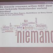 NLD/Amsterdam/20120130 - Fajah Lourens presenteerd de Verleidingsbon,